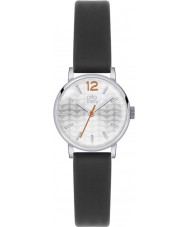 Orla Kiely OK2041 Frankie damas reloj de la correa de cuero negro
