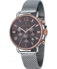 Thomas Earnshaw ES-8001-33 Mens investigador malla de plata reloj cronógrafo