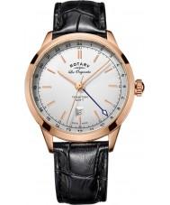 Rotary GS90183-02 Mens les originales reloj de la correa de cuero negro tradición