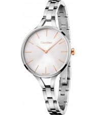 Calvin Klein K7E23B46 Las señoras de plata gráfico reloj de pulsera de acero