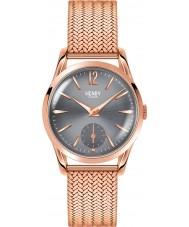 Henry London HL30-UM-0116 Damas gris finchley reloj de oro rosa