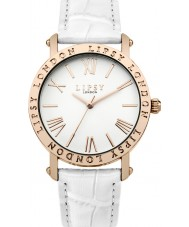 Lipsy LP455 reloj de la correa de cuero blanco de las señoras