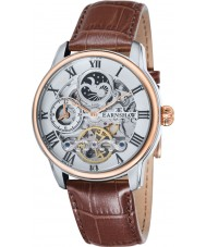 Thomas Earnshaw ES-8006-03 Mens longitud reloj de la correa de cuero marrón