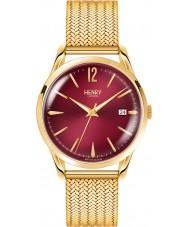 Henry London HL39-M-0062 Damas Holborn burdeos reloj de oro Hamilton