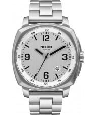 Nixon A1072-130 reloj de pulsera de acero de plata del cargador para hombre