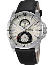 Lotus 15844-1 Reloj para hombre multifuncional negro amarillento