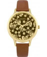 Oasis B1585 reloj de pulsera de caucho de bronce damas