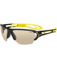 Cebe S-pista gafas de sol grandes de color negro brillante