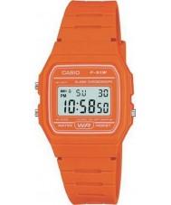 Casio F-91WC-4A2EF Cronógrafo del reloj para hombre de naranja colección retro