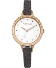 Fiorelli FO026ERG Damas de color caqui reloj de la correa de cuero de caballo de piel gris