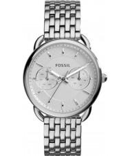 Fossil ES3712 Damas a medida reloj de pulsera de acero de plata