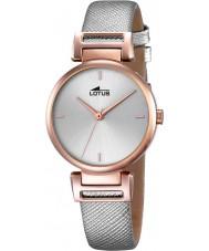 Lotus 18229-1 Señoras del reloj de la correa de cuero gris de moda