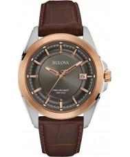 Bulova 98B267 Mens Precisionist reloj de cuero marrón