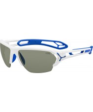 Cebe S-track grandes gafas de sol blancas brillantes