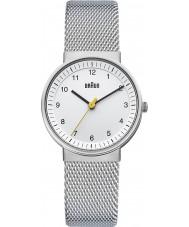 Braun BN0031WHSLMHL Reloj blanco de las señoras de plata