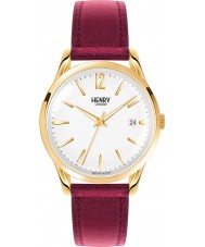 Henry London HL39-S-0064 Damas Holborn reloj borgoña blanco