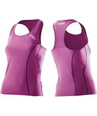 2XU Señoras activo ultra violeta tri singlet
