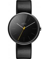 Braun BN0172BKBKG Reloj para hombre de la correa de cuero negro delgado clásico