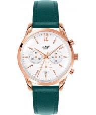 Henry London HL39-CS-0144 Damas stratford reloj cronógrafo verde pato silvestre blanca