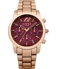 Lipsy LP461 Damas se levantaron reloj de pulsera de la aleación de oro chapado