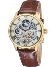 Thomas Earnshaw ES-8006-06 Mens longitud reloj de la correa de piel de cocodrilo marrón