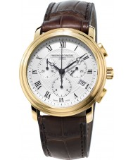Frederique Constant FC-292MC4P5 clásicos para hombre reloj cronógrafo marrón