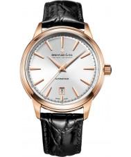 Dreyfuss and Co DGS00162-02 Reloj para hombre de la correa de cuero negro 1890