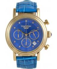 Krug-Baumen 150584DM esfera azul y oro del diamante de la empresa