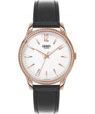 Henry London HL39-SS-0032 reloj negro blanco de las señoras Richmond con los elementos