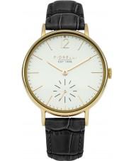Fiorelli FO018BG reloj de la correa de cuero negro de las señoras