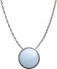 Skagen SKJ0790040 Señoras de vidrio del mar de acero collar de plata pulida