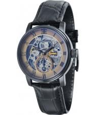 Thomas Earnshaw ES-8041-06 Mens westminster reloj correa de cuero negro de barro