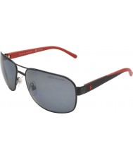 Polo Ralph Lauren Ph3093 62 vida casual de color negro mate 927781 gafas de sol polarizadas