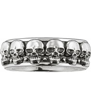 Thomas Sabo TR1878-001-12-62 Mens anillo de calavera de plata banda - tamaño T.5-u (UE 62)
