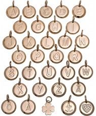 Edblad 116130235-I Charmentity i rosa bañados en oro colgante pequeña