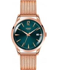 Henry London HL39-M-0136 Damas stratford verde pato silvestre rosa reloj de oro