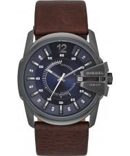 Diesel DZ1618 reloj de la correa de cuero de color marrón oscuro jefe principal para hombre