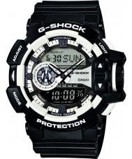 Casio GA-400-1AER Mens G-SHOCK blanco reloj cronógrafo negro