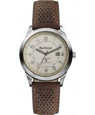 Barbour BB017CPBR reloj de la correa de cuero marrón crema para hombre del caminante