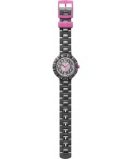 Flik Flak FCSP021 Niñas cuorantra reloj correa de silicona negro