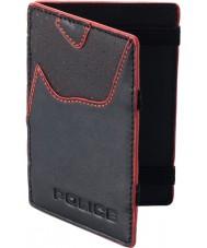 Police POMGA7-0905 de cuero negro Zephyr zurrón mágico