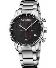 Calvin Klein K2G27141 ciudad para hombre de acero de plata reloj cronógrafo