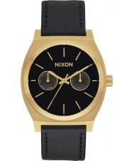 Nixon A927-1604 reloj reloj de la correa de cuero negro Tiempo cajero lujo