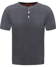 Dare2b Botón para hombre hasta la camiseta de marl de ébano