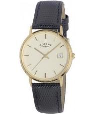 Rotary GS11476-03 Mens metales preciosos 9ct reloj caja de oro