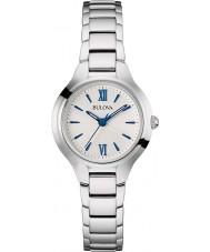 Bulova 96L215 Vestido de las señoras del reloj del tono plateado