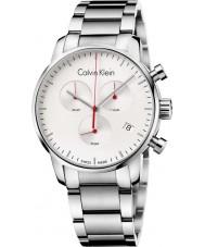 Calvin Klein K2G271Z6 ciudad para hombre de acero de plata reloj cronógrafo