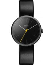 Braun BN0172BKBKL Reloj para hombre de la correa de cuero negro delgado clásico