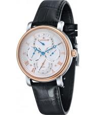 Thomas Earnshaw ES-8048-04 Mens longcase calendario maestro de barro negro reloj de la correa de cuero