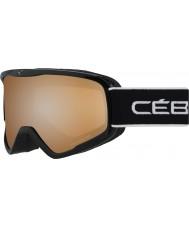 Cebe CBG103 El delantero l completo negro - gafas de esquí espejo de destello naranja